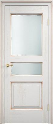 Межкомнатная дверь ПМЦ Д5 st. Dorian Barolo D5 st. патина золото Двери из массив дуба Поставы в Минске