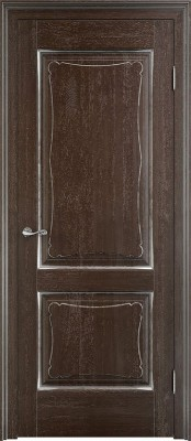 Межкомнатная дверь ПМЦ Д6/2 Dorian Barolo D6-2 мореный патина Двери из массив дуба Поставы в Минске
