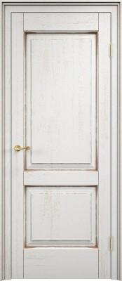 Межкомнатная дверь ПМЦ Д13 Dorian Barolo D13 патина орех Двери из массив дуба Поставы в Минске