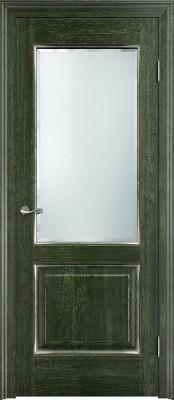 Межкомнатная дверь ПМЦ Д13 st. Dorian Barolo D13 st. малахит патина Двери из массив дуба Поставы в Минске