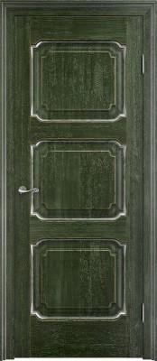 Межкомнатная дверь ПМЦ Д7 Dorian Barolo D7 малахит патина Двери из массив дуба Поставы в Минске