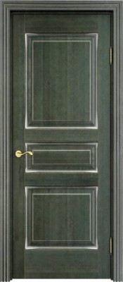 ПМЦ Ol-5 малахит патина серебро Межкомнатные двери ПМЦ в Минске