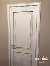 Межкомнатная дверь ПМЦ Ол.6/2 ПМЦ Ол. 6-2 медовый патина Двери из массива ольхи Поставы в Минске