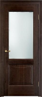 Межкомнатная дверь ПМЦ Ол.6/2 ст. ПМЦ Ол. 6-2 темный орех Двери из массива ольхи в Минске