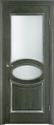 Межкомнатная дверь ПМЦ Ол.26 ст. ПМЦ Ол.26 ст. зеленый/микрано Двери из массива ольхи в Минске