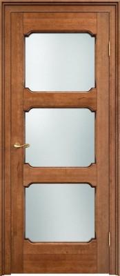 Межкомнатная дверь ПМЦ Ол.7/3 ст. ПМЦ Ол.7/3 орех патина Двери из массива ольхи в Минске