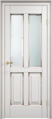 Межкомнатная дверь ПМЦ Ол.15 ст. ПМЦ Ол.15 белый грунт/патина орех Двери из массива ольхи Поставы в Минске