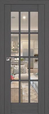 Profil Doors 102X пекан тёмный/прозрачное стекло