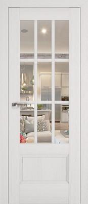 Profil Doors 104X пекан белый/прозрачное стекло