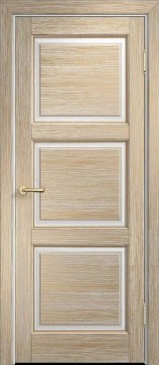 Межкомнатная дверь ПМЦ M17 ПГ ПМЦ М17 белый грунт/ золото Межкомнатные двери из массива в Минске