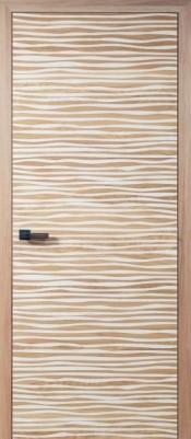 Межкомнатная дверь ПМЦ Parallel ПМЦ Parallel натуральный+белая эмаль Двери ПМЦ серия HI-TECH в Минске