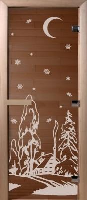 Doorwood ЗИМА бронза Стеклянные двери для бани в Минске