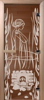 Doorwood ВОЛШЕБНЫЙ ПАР бронза Стеклянные двери для бани в Минске