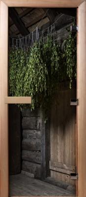 Doorwood А002 (фотопечать) Двери Для Бани и Сауны в Минске