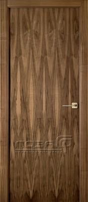 Лоза Стандарт V шпон ореха Шпонированные межкомнатные двери  в Минске