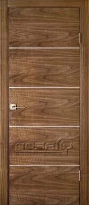 Лоза Стандарт H4 шпон ореха Двери лоза коллекция стандарт в Минске