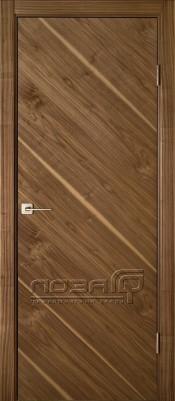 Лоза Стандарт ANGLE шпон ореха Шпонированные межкомнатные двери  в Минске