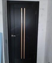 Межкомнатная дверь Исток ВЕРТИКАЛЬ-1 Вертикаль 1 венге Двери экошпон в Минске