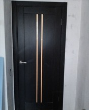 Межкомнатная дверь Исток ВЕРТИКАЛЬ-1 Вертикаль 1 венге Двери Исток Дорс экошпон в Минске