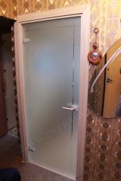 Межкомнатная стеклянная дверь AKMA ИЗАБЕЛЛА Изабелла матовое бесцветное стекло (АКМА) Стеклянные двери AKMA серия Illusion в Минске