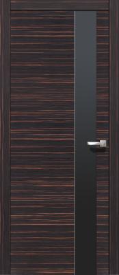 Межкомнатная дверь ВеликСорт Е-1 Loko 203 макассар Межкомнатные шпонированные двери ВеликСорт в Минске