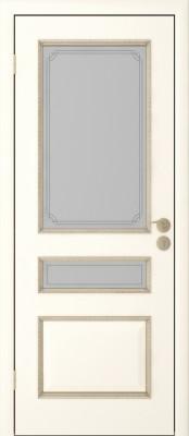 Межкомнатная дверь  Исток Трио ПО Трио эмаль ваниль Межкомнатные двери в Минске в Минске