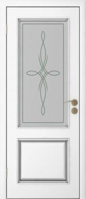 Межкомнатная дверь  Исток Бергамо-2 ПО Бергамо эмаль белая Межкомнатные двери в Минске в Минске