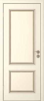 Межкомнатная дверь  Исток Бергамо-2 ПГ эмаль ваниль Межкомнатные двери в Минске в Минске