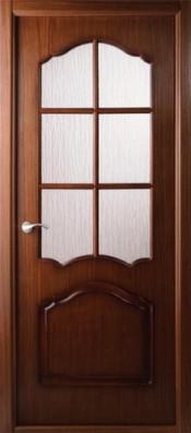 Межкомнатная дверь  Belwooddoors Каролина ПО Каролина орех Шпонированные межкомнатные двери  в Минске