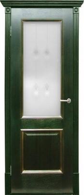 Триест зеленый + золото (Халес) Шпонированные двери Халес в Минске