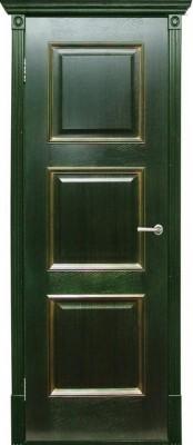 Межкомнатная дверь  Халес ТРИЕСТ ПГ Триест зеленый + золото (Халес) Шпонированные двери Халес в Минске