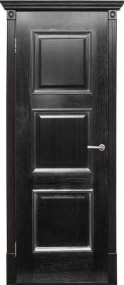 Триест черный+серебро (Халес) Шпонированные двери Халес в Минске