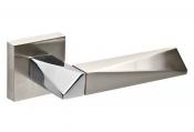 Дверная ручка Fuaro DIAMOND Fuaro DIAMOND матовый никель/хром Ручки для межкомнатных дверей в Минске
