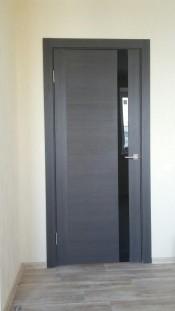 Profil Doors 62x венге мелинга, чёрное стекло