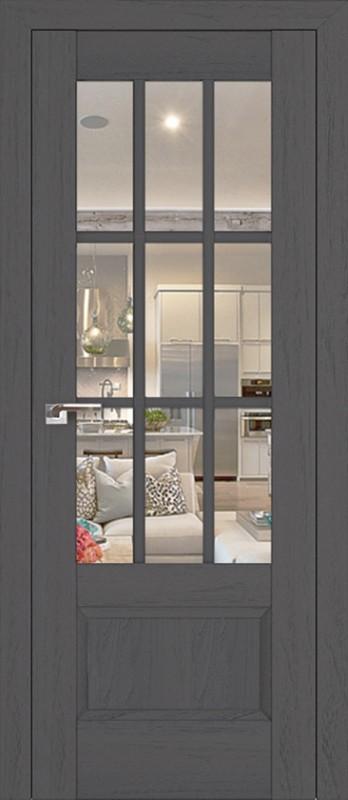 Profil Doors 104X пекан тёмный/прозрачное стекло