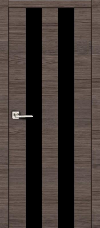 Владвери М25 дуб серый, черное стекло